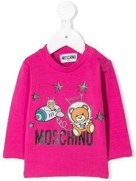 Moschino Kids Astronaut Teddy top - Pink