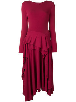 Koché ruffled midi dress - Red