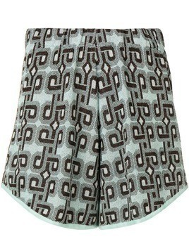 Circus Hotel patterned shorts - Grey