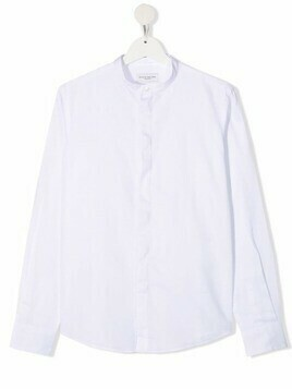 Paolo Pecora Kids band-collar cotton shirt - White