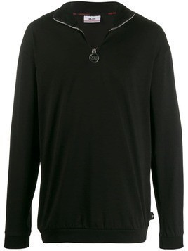 Gcds striped logo sweatshirt - Black