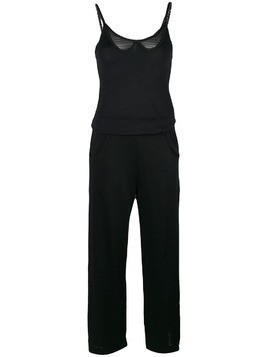 Chanel Pre-Owned sheer detail jumpsuit - Black