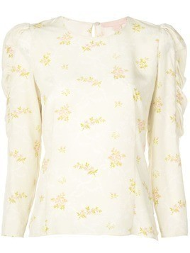 Brock Collection floral sleeve detail shirt - Neutrals