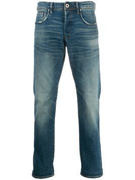 G-Star Raw Research faded mid-rise destroyed regular jeans - Blue