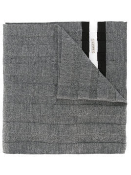 Bally ribbed knitted scarf - Grey