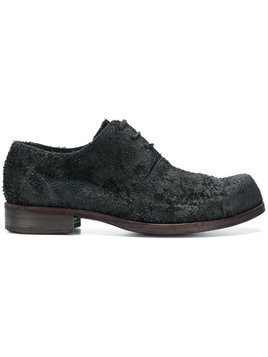 Individual Sentiments textured derby shoes - Black