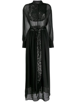 Christian Pellizzari sequin embellished dress - Black