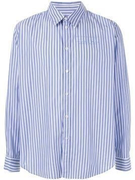 Martine Rose striped fitted shirt - Blue