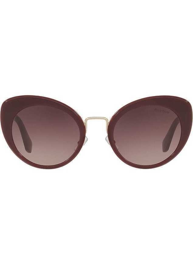 Miu Miu Eyewear cat eye sunglasses - Red