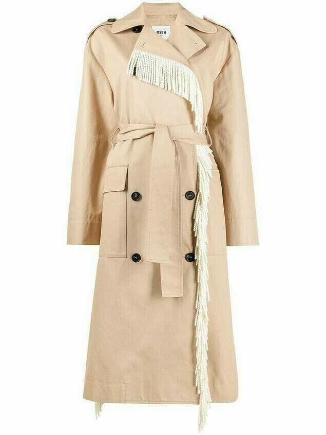 MSGM double-breasted trench coat - Neutrals