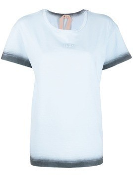 Nº21 ombre trim T-shirt - Blue