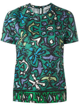 Valentino floral short sleeve top - Green