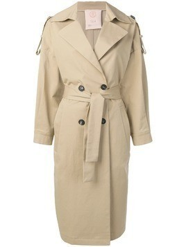 Tela oversized trench coat - Neutrals