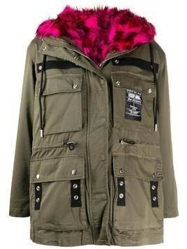 Diesel G-Uribe reversible parka coat - Green