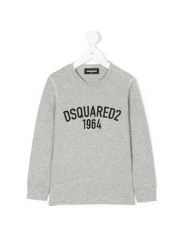 Dsquared2 Kids logo print sweatshirt - Grey