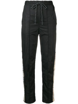 Andrea Crews checked band track pants - Black