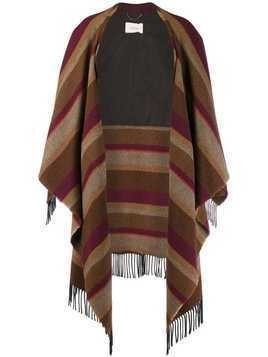 Dorothee Schumacher Cosy Fringes striped cape - Neutrals