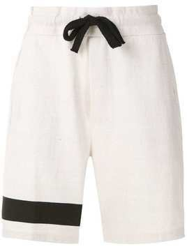 Osklen stripe print shorts - White