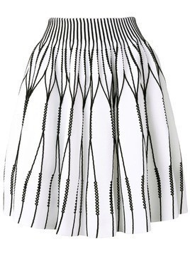 Antonino Valenti panelled scuba skirt - White