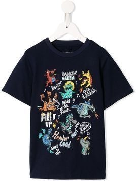 Stella McCartney Kids dragon print T-shirt - Blue