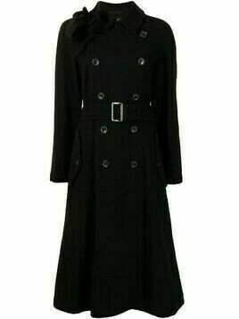 Comme Des Garçons Pre-Owned double-breasted belted trench coat - Black