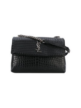 Saint Laurent monogram shoulder bag - Black
