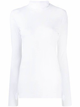Dorothee Schumacher thumb hole roll neck top - White