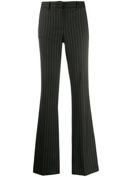 P.A.R.O.S.H. pinstripe flared trousers - Black