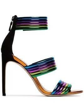 Sophia Webster multicoloured Chiara 100 rainbow sandals - Metallic