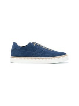 Hogan perforated detail sneakers - Blue