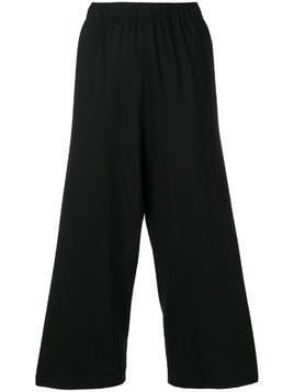 6397 wide leg cropped trousers - Black