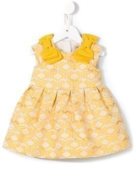 Hucklebones London brocade jacquard bodice dress with bloomers - Yellow & Orange