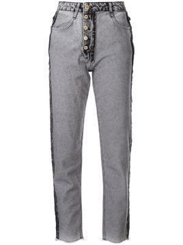 Litkovskaya fitted reversed jeans - Grey