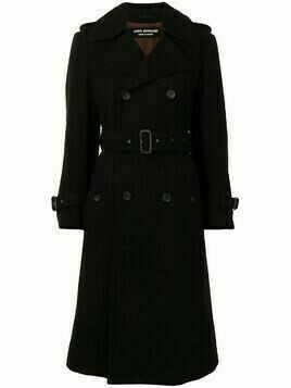 Junya Watanabe Comme des Garçons Pre-Owned belted double-breasted coat - Black