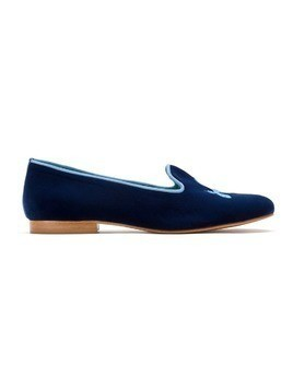 Blue Bird Shoes embroidered velvet Koons loafers