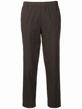 Kiltie cropped straight leg trousers - Brown