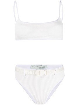 Off-White ribbed bikini set