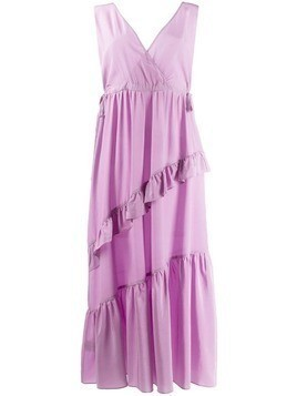 Tela asymmetric ruffled dress - Purple