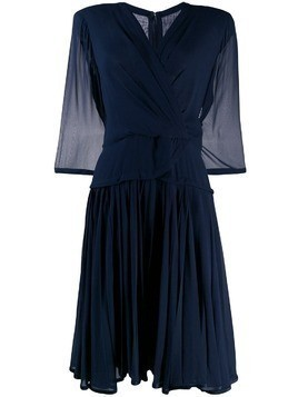 A.N.G.E.L.O. Vintage Cult 1980's silk crepe pleated dress - Blue
