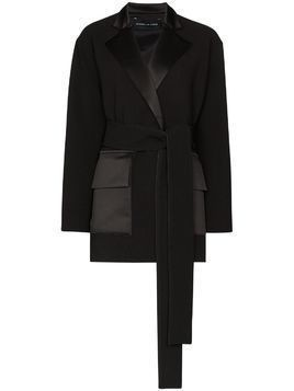 Michael Lo Sordo deconstructed belted blazer - Black