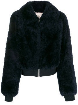 Yves Salomon Meteo faux fur jacket - Blue