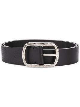 P.A.R.O.S.H. textured-buckle calf leather belt - Black