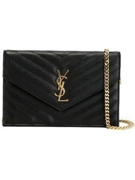 Saint Laurent small 'Monogram' shoulder bag - Black