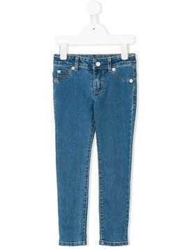 Kenzo Kids logo patch slim jeans - Blue