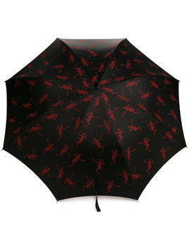 Alexander McQueen skeleton print umbrella - Black