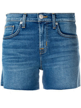 Hudson frayed Hudson denim shorts - Blue