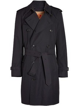 Burberry Cotton Gabardine Trench Coat with Warmer - Blue