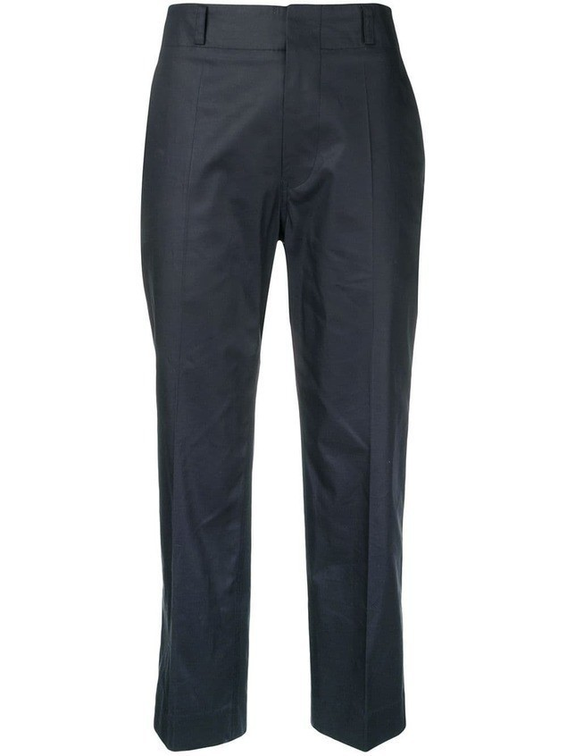 Sofie D'hoore cropped tapered trousers - Blue