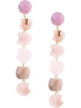 Cult Gaia drop stones earring - Pink & Purple