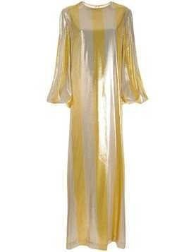 By. Bonnie Young striped metallic dress - Gold